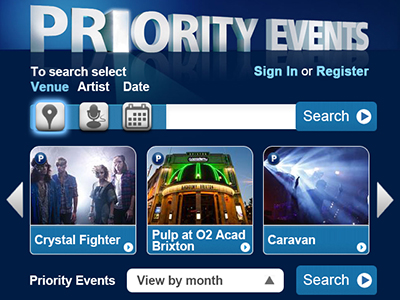 O2 Priority Events