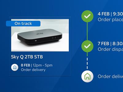 Sky Q Order Tracker